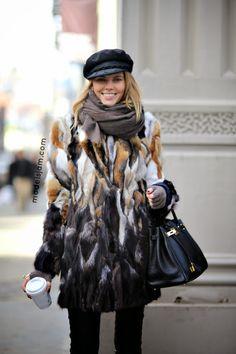 epic fur. #MarynaLinchuk #offduty in NYC.