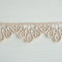 #Organic #lace #trim 37 mm wide natural ecru #cotton colour #undyed, wave semi-circle www.lancasterandcornish.co.uk #wedding #lingerie #bridal #wedding #lampshade #upcycle #gorgeous