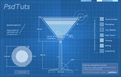 Create a Cocktail Blueprint Using Actions in Photoshop.