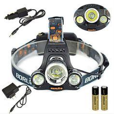 12000LM RJ2157 USB Headlamp XM-L2 LED Zoom Headlight Power Bank 2X 18650 Torch