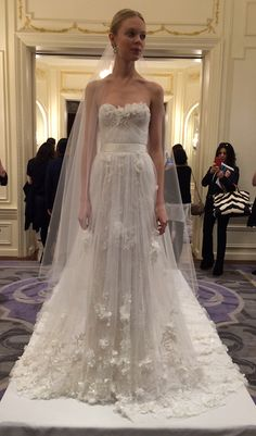 Pretty much the most ethereal wedding dress we've ever seen at @marchesafashion | Brides.com