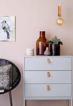 DIY idea - leather on dresser   Boligmagasinet.dk