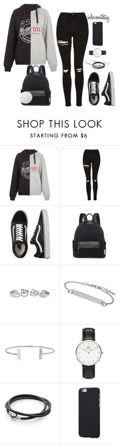 """20❤"" by inlovewithtay ❤ liked on Polyvore featuring Topshop, Vans, Humble Chic and Daniel Wellington"