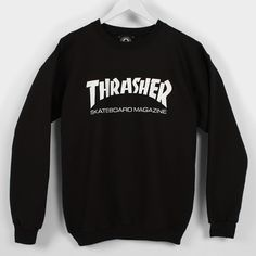 thrasher sweater Skate Hoodies, Crew Sweatshirts, T Shirts, Crew Neck Sweatshirt, Thrasher Sweatshirt, Thrasher Shirts, T Shirt Makeover, Thrasher Outfit, Trendy Outfits