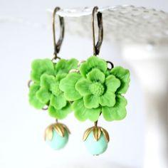 Garden Earrings by NestPrettyThingsShop on Etsy