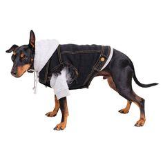 Black Denim Dog Vest / Black Denim Dog Jacket/ Dog Jacket /