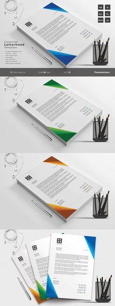 Corporate Letterhead Template. Stationery Templates. $5.00