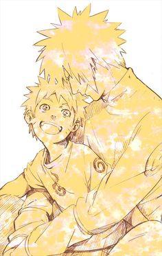 Minato and Naruto! -from Zerochan Naruto Shippuden, Boruto, Naruto Sasuke Sakura, Naruto Cute, Anime Naruto, Manga Anime, Naruto Comic, Naruhina, Noragami