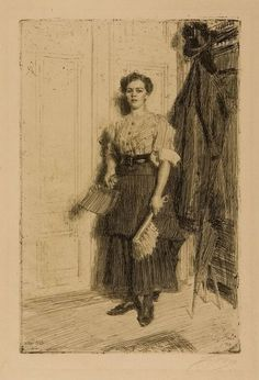 The Athenaeum - The New Maid (Anders Zorn - )