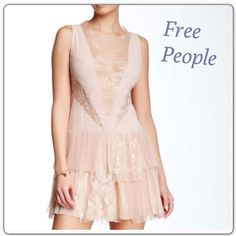 "Dove Dress NWT Free People Dove Dress in nude pink. 32"" long. Size 4 NWT Free People Dresses Mini"