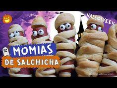 LAS MEJORES RECETAS para HALLOWEEN Momias de Salchicha Mummy Hot Dogs Recipe - YouTube