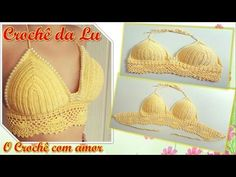 CROCHET BIKINI TOP PATTERN - YouTube