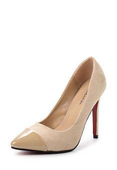 Туфли Malien, цвет: бежевый. Артикул: MA098AWGCP06. Женская обувь / Туфли / Туфли на шпильке