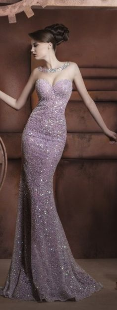 This would be a gorgeous brides maids dress!! Hassan Mazeh evening dress