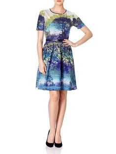 £37.50   Trees and Bluebell Print Dress