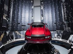 Elon Musk's unbelievable plan to use his own Tesla Roadster as the demonstration payload for the inaugural test launch of SpaceX's new rocket, the Falcon Heavy, is reportedly set to hap… Tesla Roadster, Elon Musk Tesla, Tesla Ceo, Tesla Spacex, Spacex Falcon Heavy, Spacex Launch, Deep Space, Space Travel, Mars