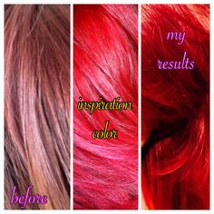 Loreal Hicolor Magenta Before And After loreal hilights red/ magenta ...