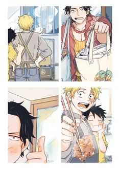 One Piece Funny, One Piece Comic, Zoro One Piece, One Piece Ace, One Piece Fanart, One Piece Manga, Anime Best Friends, Watch One Piece, Ace Sabo Luffy