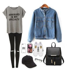 A fashion look from June 2016 featuring shirt top, denim coats and high waisted ripped jeans. Browse and shop related looks. Boy Bye, Denim Coat, Ripped Jeans, Adidas Originals, Topshop, Fashion Looks, Boys, Polyvore, Shirts