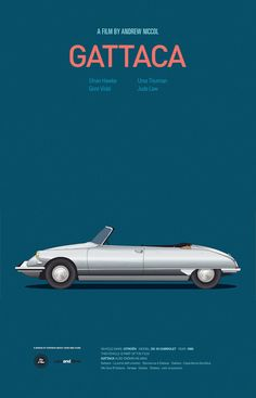 Spanish graphic designer and illustrator Jesús Prudencio created a series of beautiful posters that feature iconic cars from popular movies.