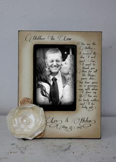Wedding  Distressed Vintage Picture 4x6 Mother of the Groom Future Mother in Law Photo Frame - Personalized Gift - Keepsake