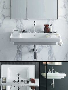 Art Deco Wall Hung Washbasin For Bathrooms