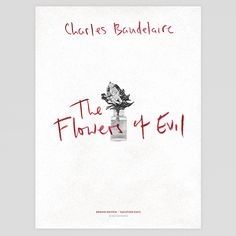 """The Flowers of Evil"" (""Les Fleurs du Mal"") by Charles Baudelaire - Echo Edition Book Cover Print"