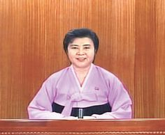 Li Chung hee, announcer of North Korea(not sure its spell)