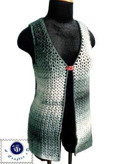 Crochet Moonlight cardi vest - Maz Kwok's Designs
