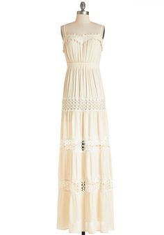 Sunshine of My Whirled Dress. Youre a whirlwind of summertime beauty as you do a spin in this creamy maxi dress! #cream #modcloth