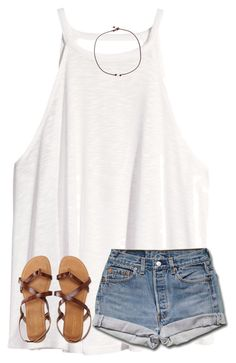 """""""wishing it was summer"""" by ponyboysgirlfriend ❤ liked on Polyvore featuring H&M, Aéropostale and Riah Fashion"""