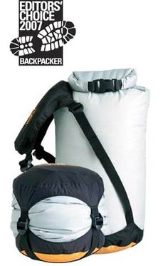eVent® Compression Dry Sacks. I use them to pack my food and clothes--keeps both dry, and squeezes all the air out. Makes it easy to hang to keep out of reach of bears (and out of camp site).