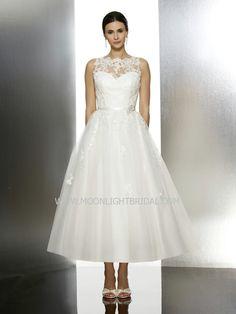 Moonlight Tango Wedding Dresses - Style T608 #tealength #wedding #dresses
