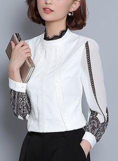 Buy Blouses, Online Shop, Women's Fashion Blouses for Sale Blouse Styles, Blouse Designs, Hijab Fashion, Fashion Outfits, Womens Fashion, Hijab Stile, Iranian Women Fashion, Blouses For Women, Textiles