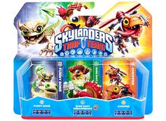 Til Playstation! SKYLANDERS Trap Team 3-pak Funny Bone, Shroomboom, Chopper 249,95