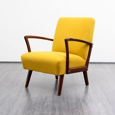 Velvet-Point - armchairs / easy chairs 1960s armchair, beech, reupholstered - Karlsruhe