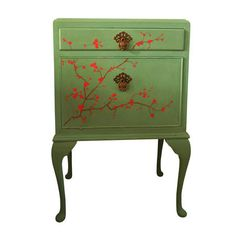 Hand Painted Cherry Blossom Cabinet