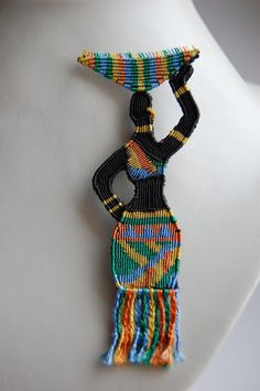 Brooch African Woman by 3zolushka