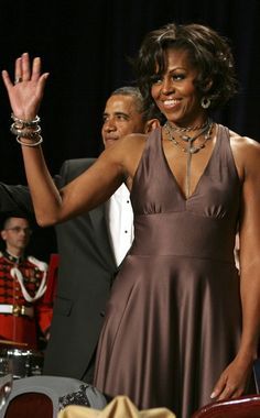 President and wife, Michelle Obama