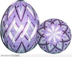 Znalezione obrazy dla zapytania jajka temari wzory