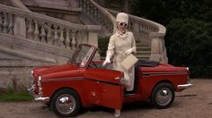 Audrey in How To Steal A Million 1966 / awesome car / white suit <3