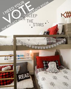 FREE Bunkbed Plans - How to design and build custom bunk beds   Jenallyson - The Project Girl - Fun Easy Craft Projects including Home Improvement and Decorating - For Women and Moms