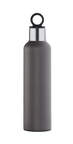 The Blomus insulated water bottles are great for on the go. Perfectly sized to throw in your bag, cup holder, or clip on using the integrated ring on the cap. Available in 2 colors: black or gray and (Water Bottle)