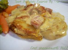 Spam And Potato Casserole Recipe - Food.com Potatoe Casserole Recipes, Potato Recipes, Spam Recipes, Yummy Recipes, Recipies, Gross Food, Canned Meat, Sunday Recipes, Cheap Meals