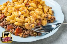 Cheeseburger Mac and Cheese : Taste the difference. There's Angus. Then there's the Certified Angus Beef ® brand. Boeuf Angus, Angus Beef, Creamy Mac And Cheese, Macaroni And Cheese, Pasta Dishes, Food Dishes, Main Dishes, Cheeseburger Mac And Cheese, Cheeseburger Casserole