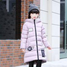 Хорошее качество Дети Зимняя Верхняя Одежда 2016 Новорожденных Девочек Вниз Пальто Куртка Длинные Стиль Теплый Утолщение Детский Открытый Снег доказательство Пальто(China (Mainland))