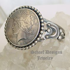 Liberty dollar & Sterling Silver Cuff Bracelet old coin jewelry | www.schaefdesigns.com | New Mexico