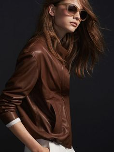 CAZADORA PIEL LIMITED EDITION - NYC Limited Edition - Massimo Dutti AW 2015