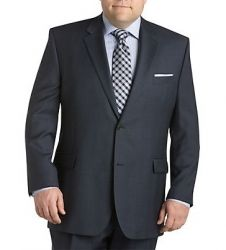 Outfit suggestion for the guys. #notsocorporateheadshot #headshot #whattowearhim Men's Two Buttom Sharkskin Navy Suit