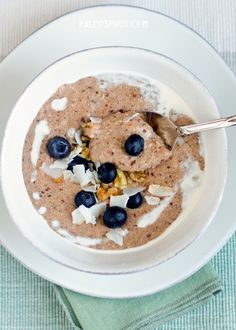Paleo Breakfast Porridge - made with almond meal; bananas, coconut milk and spices... YUM!